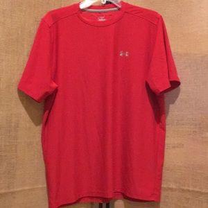Under Armour red heatgear workout shirt